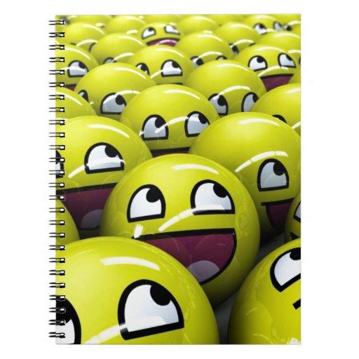 caras felices libros de apuntes