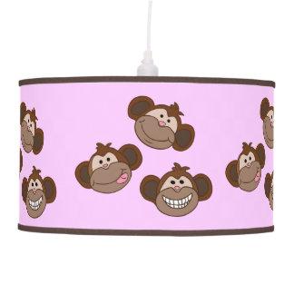 Caras felices preciosas del mono lámpara de techo