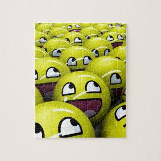 caras felices puzzle con fotos
