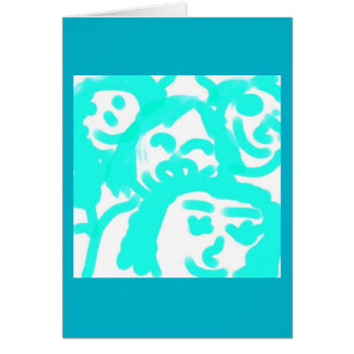 Caras felices tarjeta de felicitación