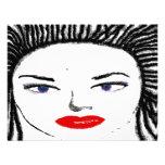 Caras femeninas bonitas invitacion personalizada