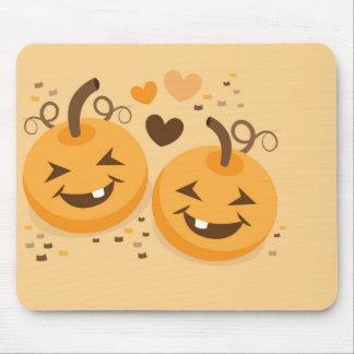 Caras lindas del bebé de la calabaza de Halloween Tapetes De Ratones