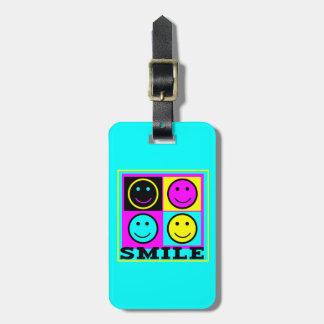 Caras lindas del smiley de la SONRISA CMYK Etiqueta De Equipaje