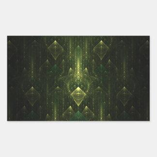 Caras oscuras del verde esmeralda Fractal Art Rectangular Altavoces
