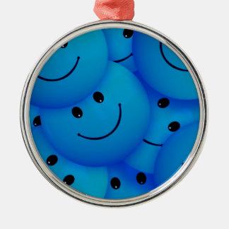 Caras sonrientes azules felices frescas de la dive adornos