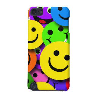 Caras sonrientes coloridas funda para iPod touch 5G