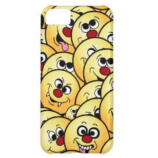 Caras sonrientes divertidas de Grumpeys fijadas Carcasa Para iPhone 5C