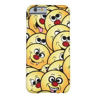 Caras sonrientes divertidas de Grumpeys fijadas Funda Barely There iPhone 6