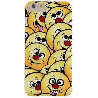 Caras sonrientes divertidas de Grumpeys fijadas Funda Barely There iPhone 6 Plus
