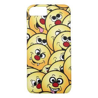 Caras sonrientes divertidas de Grumpeys fijadas Funda iPhone 7