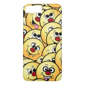 Caras sonrientes divertidas de Grumpeys fijadas Funda iPhone 7 Plus