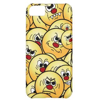 Caras sonrientes enojadas de Grumpeys fijadas Carcasa Para iPhone 5C
