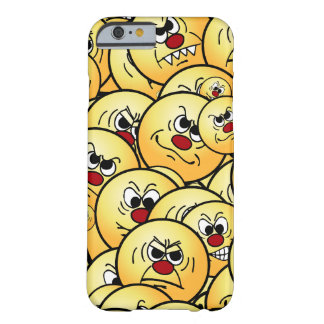 Caras sonrientes enojadas de Grumpeys fijadas Funda Barely There iPhone 6