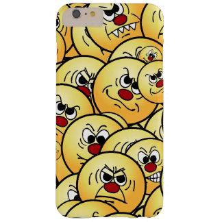 Caras sonrientes enojadas de Grumpeys fijadas Funda Barely There iPhone 6 Plus