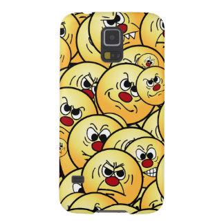 Caras sonrientes enojadas de Grumpeys fijadas Funda Galaxy S5