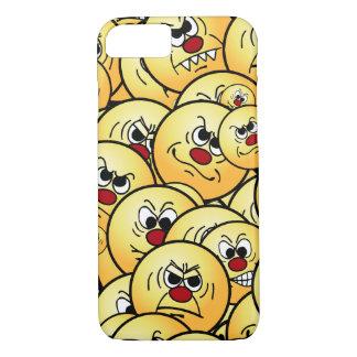 Caras sonrientes enojadas de Grumpeys fijadas Funda iPhone 7