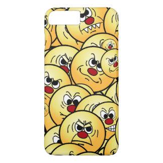 Caras sonrientes enojadas de Grumpeys fijadas Funda iPhone 7 Plus