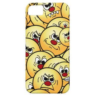 Caras sonrientes enojadas de Grumpeys fijadas Funda Para iPhone SE/5/5s