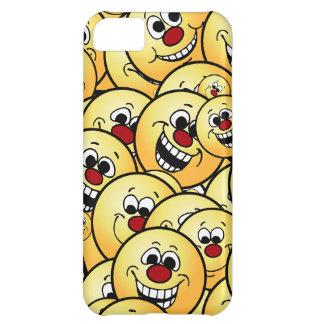 Caras sonrientes felices de Grumpeys fijadas Carcasa Para iPhone 5C