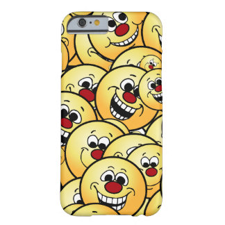 Caras sonrientes felices de Grumpeys fijadas Funda Barely There iPhone 6