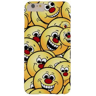 Caras sonrientes felices de Grumpeys fijadas Funda Barely There iPhone 6 Plus