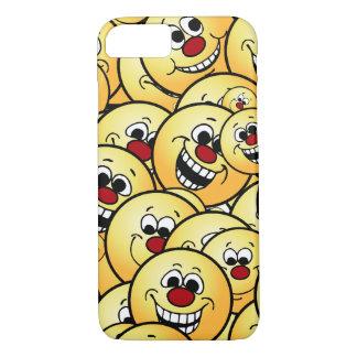 Caras sonrientes felices de Grumpeys fijadas Funda iPhone 7