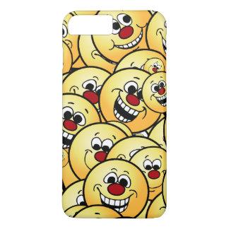 Caras sonrientes felices de Grumpeys fijadas Funda iPhone 7 Plus