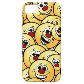 Caras sonrientes felices de Grumpeys fijadas Funda Para iPhone SE/5/5s
