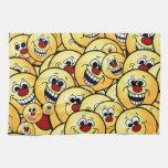 Caras sonrientes felices de Grumpeys fijadas Toallas