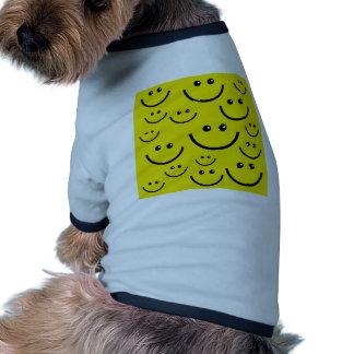 Caras sonrientes camisa de perrito