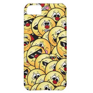 Caras sonrientes tontas de Grumpeys fijadas Carcasa iPhone 5C