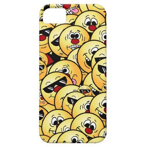 Caras sonrientes tontas de Grumpeys fijadas iPhone 5 Carcasas