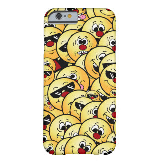Caras sonrientes tontas de Grumpeys fijadas Funda Barely There iPhone 6