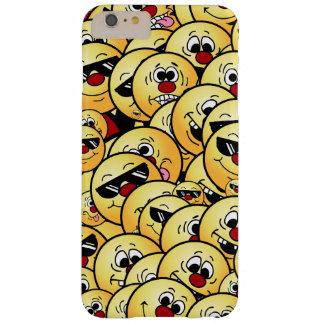 Caras sonrientes tontas de Grumpeys fijadas Funda Barely There iPhone 6 Plus