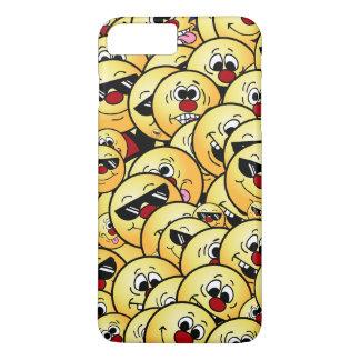 Caras sonrientes tontas de Grumpeys fijadas Funda iPhone 7 Plus