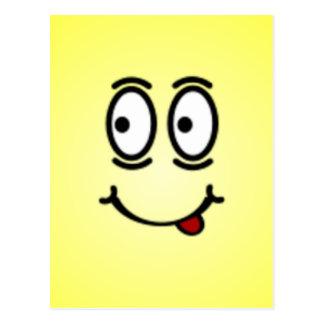 Caras sonrientes tontas de lujo postal