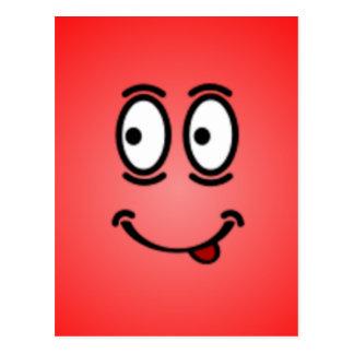 Caras sonrientes tontas de lujo tarjeta postal