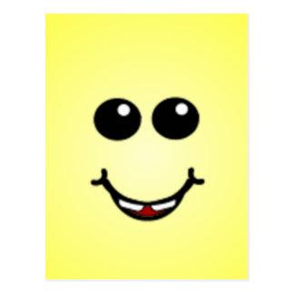 Caras sonrientes tontas de lujo tarjetas postales
