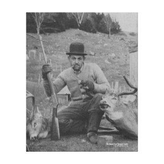Caratunk Hunting Scene Canvas Print