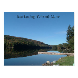 Caratunk, Maine - aterrizaje del barco en el Tarjetas Postales