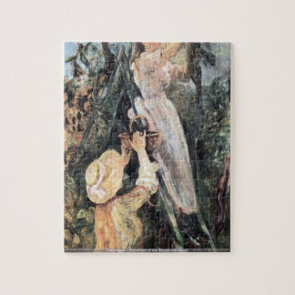 Caravaggio - Adoration of the Shepherds detail Jigsaw Puzzle