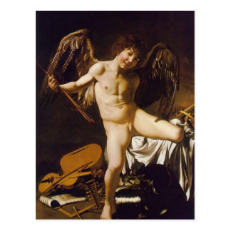 Caravaggio- Amor Victorious Postcard