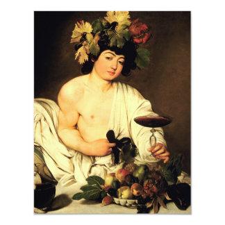 Caravaggio Bacchus Invitations