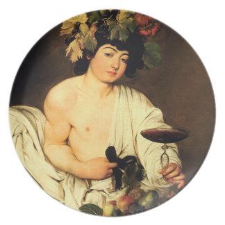 Caravaggio Bacchus Plate