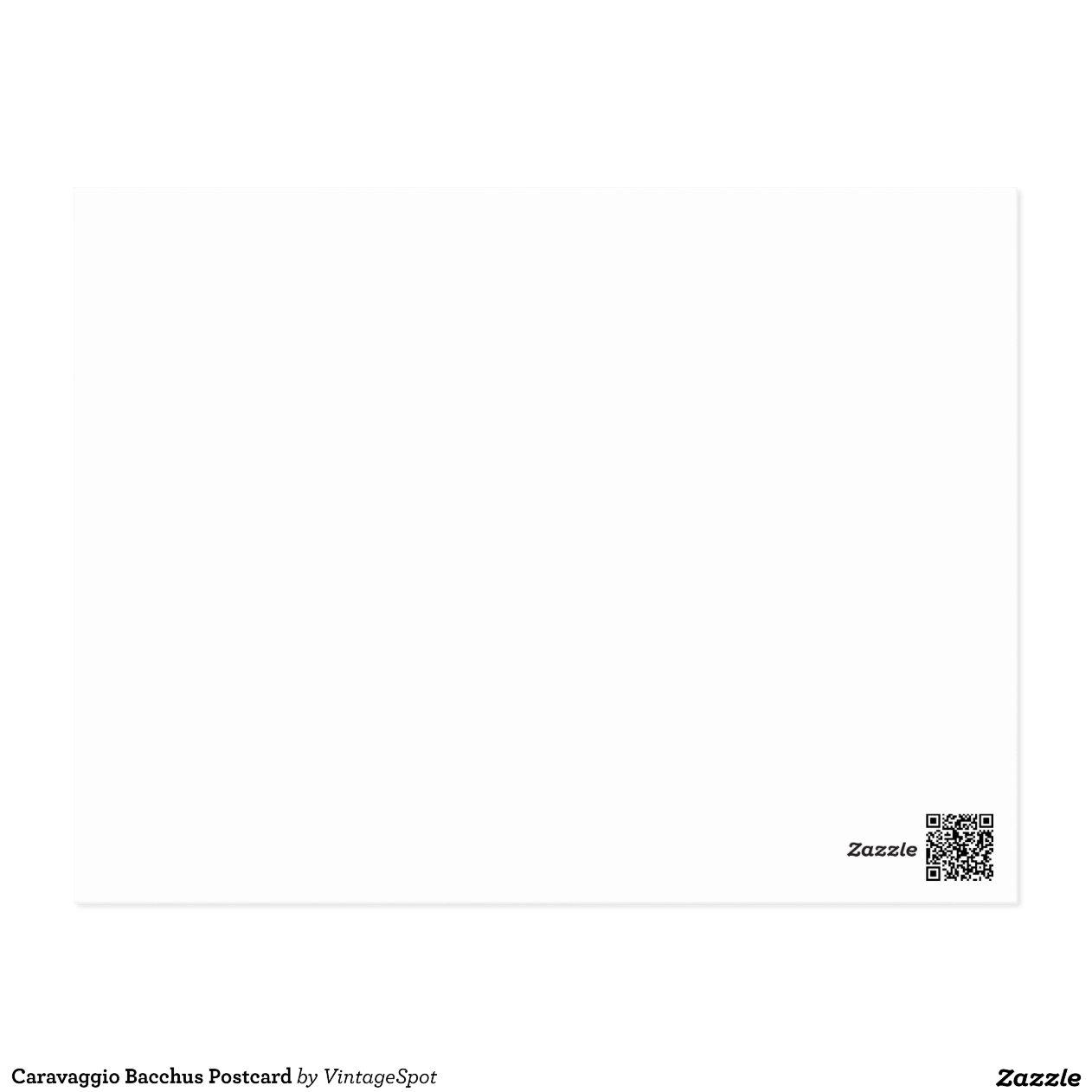 Young Sick Bacchus Caravaggio Bacchus Postcard