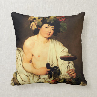 Caravaggio Bacchus Throw Pillow