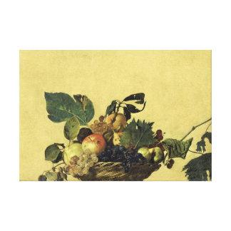 Caravaggio Basket of Fruit Canvas Print