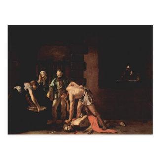 Caravaggio- Beheading of Saint John the Baptist Postcard