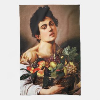 Caravaggio Boy With a Basket of Fruit Hand Towel