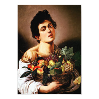 Caravaggio Boy With a Basket of Fruit Invitations